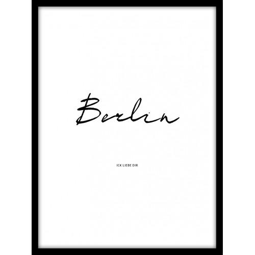 Designprint ick liebe Berlin