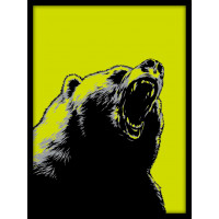 Designprint Bear neon Berlin