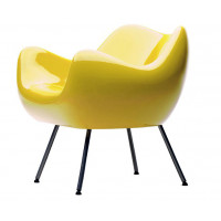 RM 58 Armchair-Glossy Yellow / Black / Red
