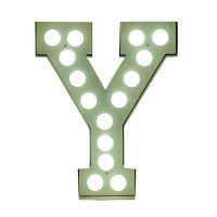 """VEGAZ"" METAL LETTER WITH LED BULBS"